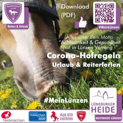 CORONA-HINWEIS Beherbergung & Reiterferien