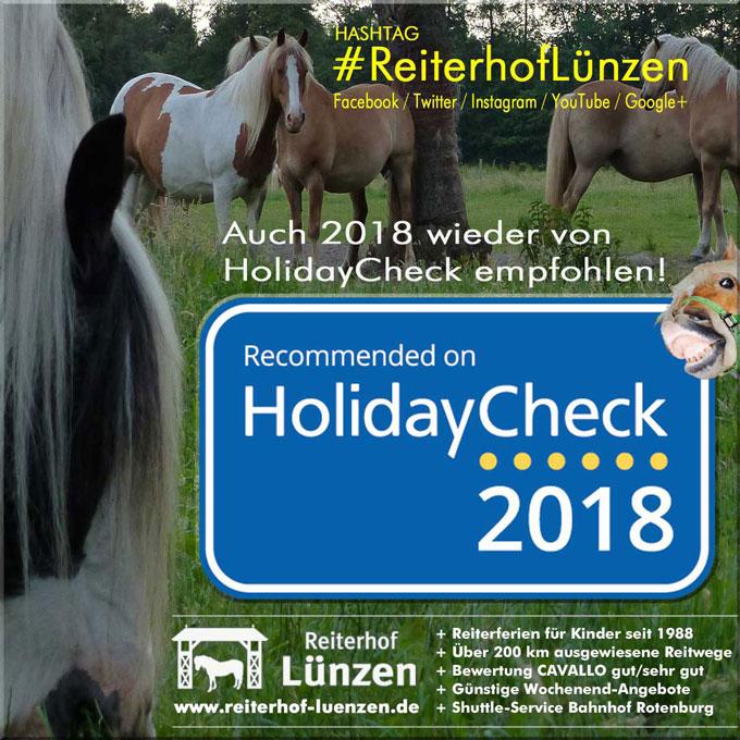 Empfohlen von HolidayCheck Reiterhof Luenzen Lueneburger Heide