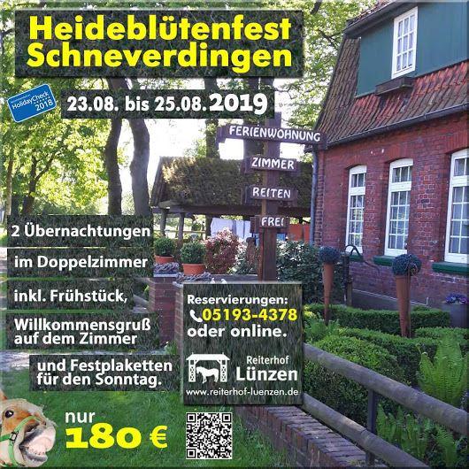 Heidebluetenfest-Schneverdingen-2019-Einzelzimmer-Doppelzimmer-Ferienwohnung-Reiterhof-Ferienhof-Luenzen-Lueneburger-Heide-Niedersachsen-Cavallo-HolidayCheck-empfohlen