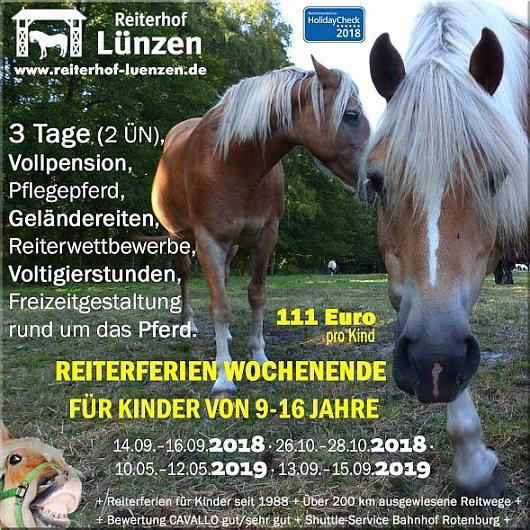 Reiten-Angebot-Reiterferien-Wochenende-Kinder-Reiterhof-Ferienhof-Luenzen-Lueneburger-Heide-Niedersachsen-Cavallo-HolidayCheck-empfohlen-2019